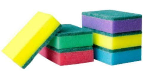 Почему губки для посуды разных цветов?