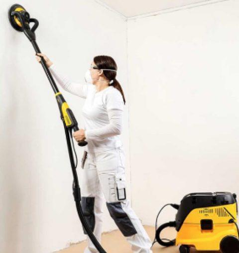 Как убрать пыль после шлифовки стен: правила и способы